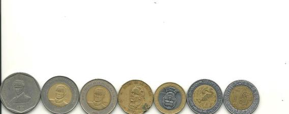 Lote De 7 Monedas De República Dominicana Y México