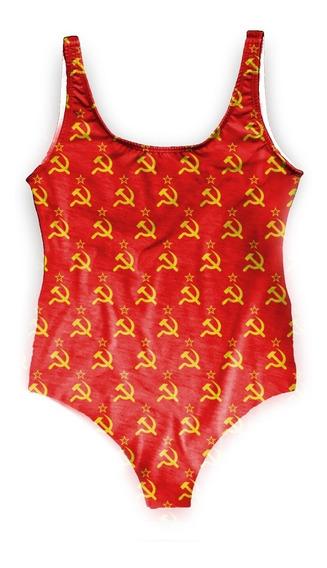 Maiô Body Bori Feminino Verão Comunismo Cccp Karl Marx