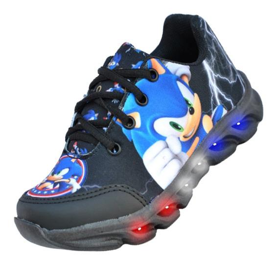 Tênis Infantil Led Sonic Personagem Lançamento Barato