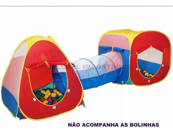 Toca Barraca Infantil 3 Em 1 Com Tunel Frete Grátis