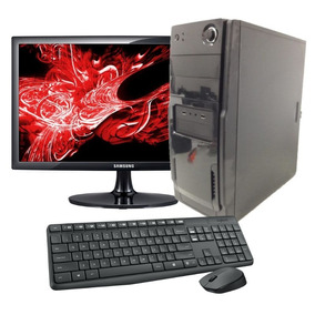 Pc Kit Gamer Core 2 Duo Hd320 Placa De Vídeo +mouse+teclado