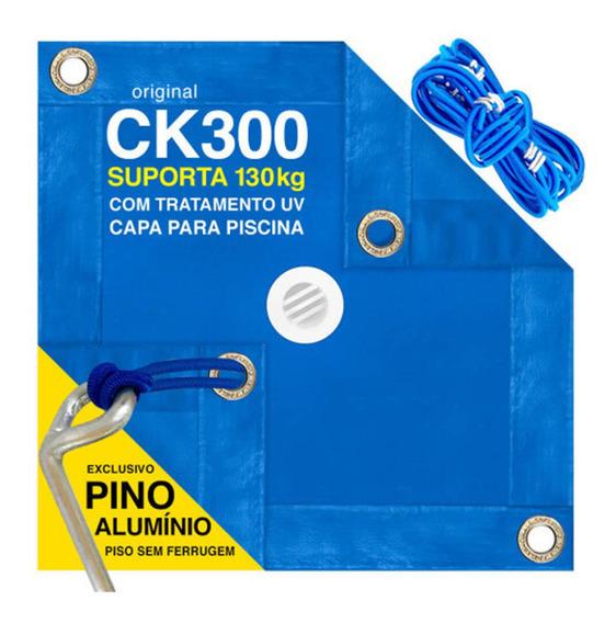 Capa De Piscina 5 Em 1 Proteção + Térmica Completa 6x3 Mts