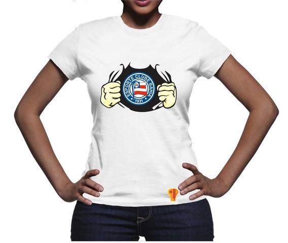 Bahia Futebol Clube Camiseta Feminina T Shirt 2018 Brusinha