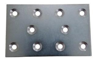 Chapa De Zinco Para Fixação Com Furações 5x8cm C2340