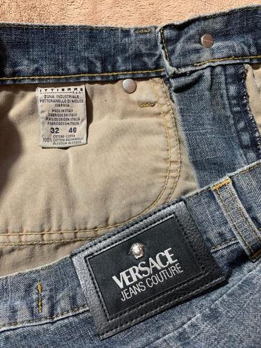 Pantalon Original Versace Jeans Mezclilla Unisex Azul T 30 Mercado Libre