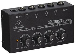 Amplificador De Audífonos Behringer Microamp Ha400 4 Canales