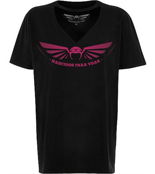 Camiseta Feminina Tee Chocker Nv33 Nascidos Voar Paraquedas