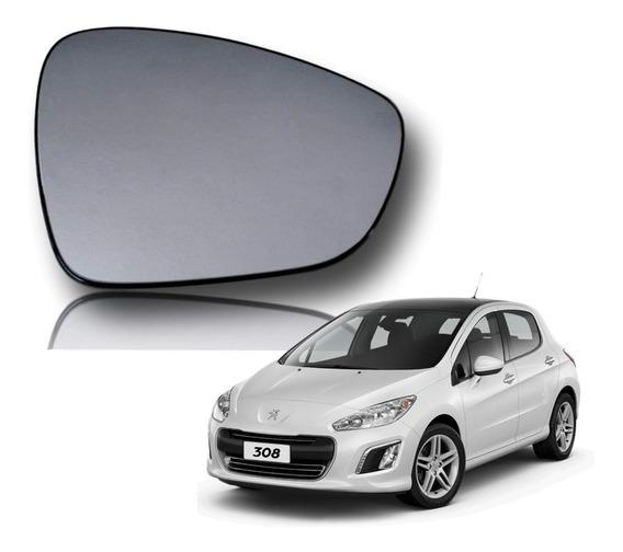 Vidro Lente Espelho Retrovisor Peugeot 308 13 14 15 Orig Dir