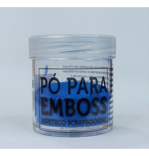 Imagem 1 de 1 de Repeteco - Pó Para Emboss Opaco - Cor Azul - 14gr - (embopac