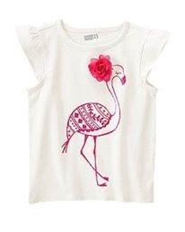 Blusa Crazy8 Importada Menina Flamingo 3d