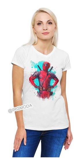 Camiseta Mujer Deadpool Moda Lifestyle Poliester Algodon