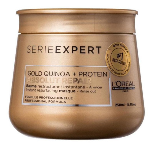 Loreal Profissional Gold Quinoa Máscara Absolut  250gr