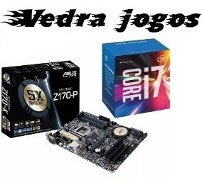 Kit Processador I7 7700k+placa Mãe Asus Z170-p+air Cooler