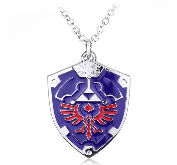 Colar The Legend Of Zelda Escudo Hylian Shield Link Metal