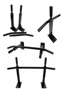 Promo 2 Barras Iron Fija + Mini Paralelas Ejercicio Gym Casa