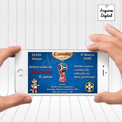 Imagem 1 de 2 de Convite Digital Copa Do Mundo 2018 Álbum De Figurinhas Fifa