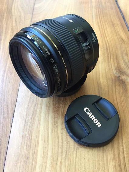 Lente Canon 85mm 1.8 - Excelente Estado - Florianópolis