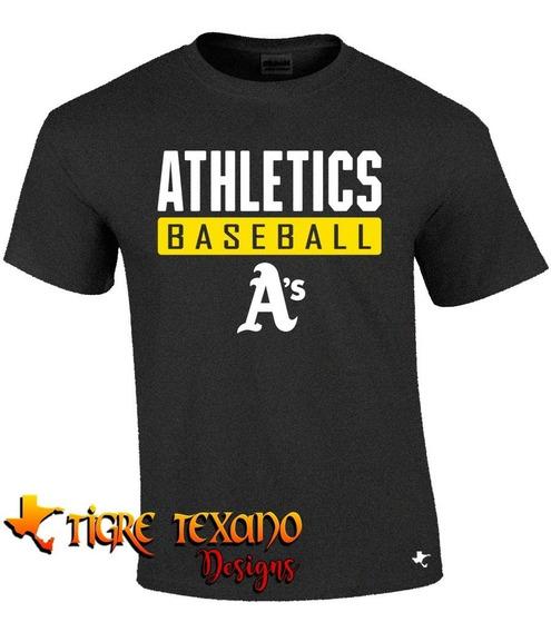Playera Beisbol Mlb Atléticos Mod L By Tigre Texano Designs