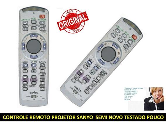 Controle Remoto Do Projetor Sanyo Cxya Original Semi Novo
