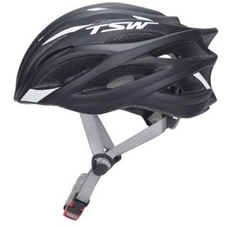 Capacete De Ciclismo Tsw Speed Team Preto /branco- Tam. M