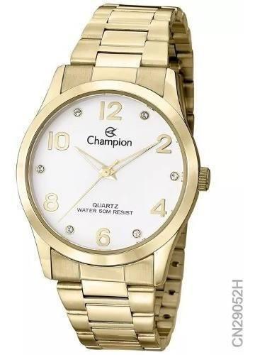 Relogio Champion Feminino Dourado Cn29052h Original