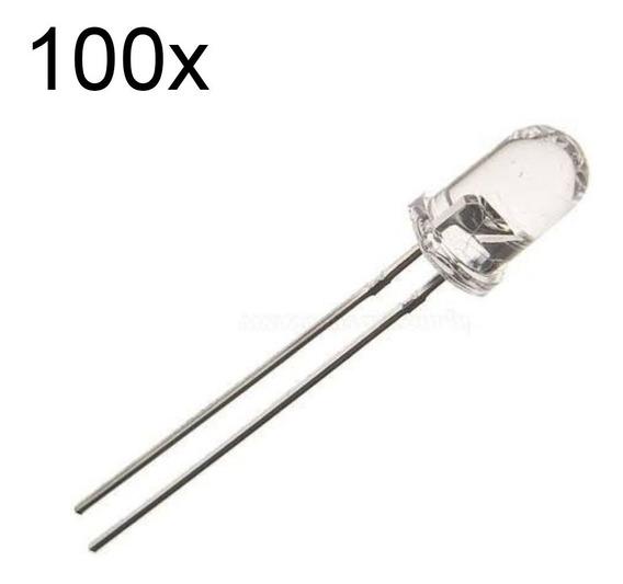 100 Led Infravermelho Sensor 5mm Emissor Pic Arduino Esp