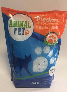 5 Piedras Sanitarias Silica Gel Clasica Animal Pet 3.8 L