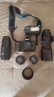 Camera Nikon F 601 ( Analogica-não Digital ) Kit C/4 Lentes