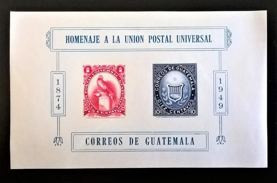 Guatemala Aves, Bloque Sc. 338 Homen Upu 49 Mint L10859