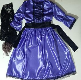 49a0eb355 Disfraz De Dama Antigua De Color Violeta Rosa Y Azul - Disfraces ...