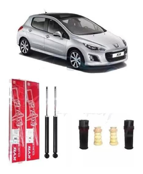 Par Amortecedor Traseiro + Kit Batente Peugeot 308 408