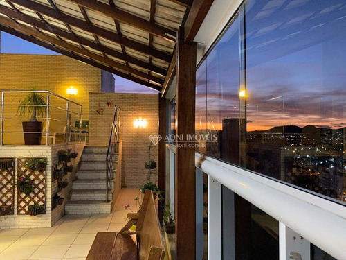 Cobertura Com 3 Dormitórios À Venda, 240 M² Por R$ 1.700.000,00 - Praia De Itaparica - Vila Velha/es - Co0048