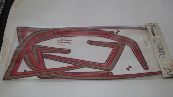 Jogo Faixas Honda Ml 125 Ano 86 Vinho