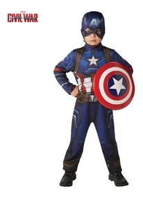 Disfraz Del Capitan America Original New Toy