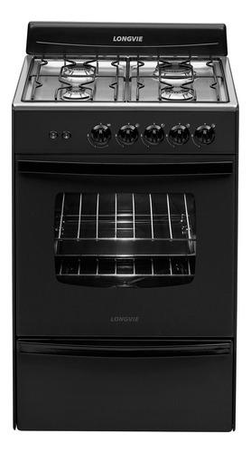 Imagen 1 de 3 de Cocina Longvie Standard 13331GF multigas 4 hornallas  grafito 220V puerta  con visor 70L