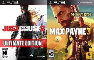 Just Cause 2 Ultimate Edition + Max Payne 3 Complete / Ps3