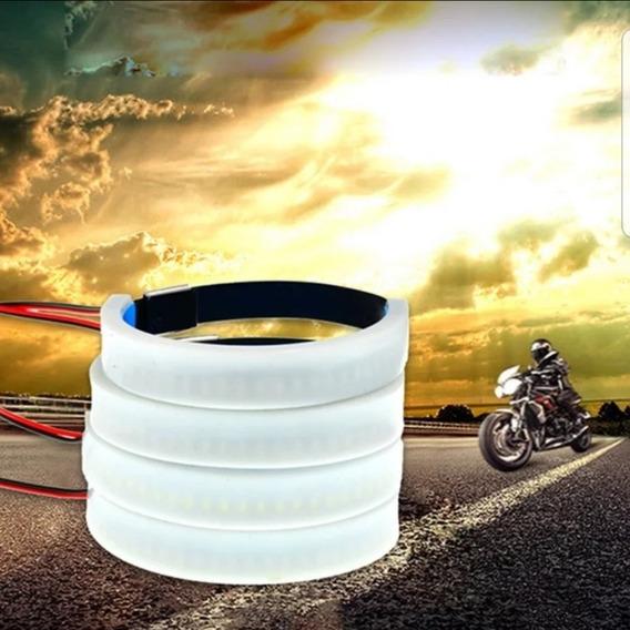 Par Seta Led Bengala Moto Custom Café Racer Harley Ambar