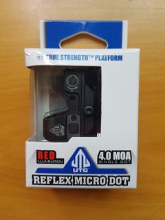 Red Dot Utg Micro 4.0 Moa Para Glock Ou Outras Com Mos