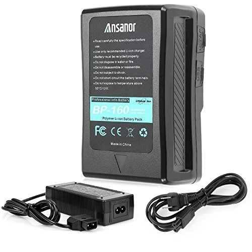 Batería Y Cargador Ansanor V-mount Para Videocámara Con Cáma