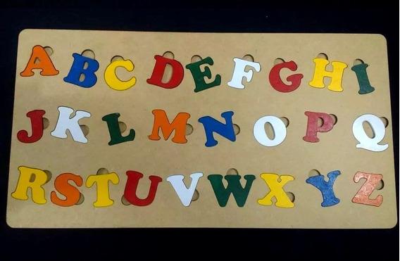 Alfabeto Educativo Pedagógico De A A Z Em Madeira Mdf
