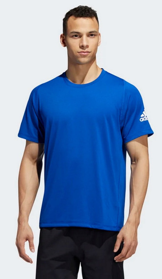 adidas Camiseta Playera L Freelift Azul Entreno Gym Deportiv