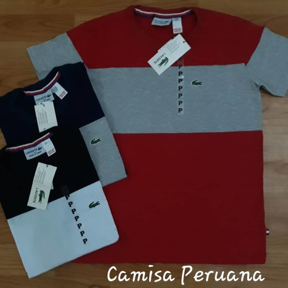 Kit 3 Camisas Lacoste Fabricação Peruana