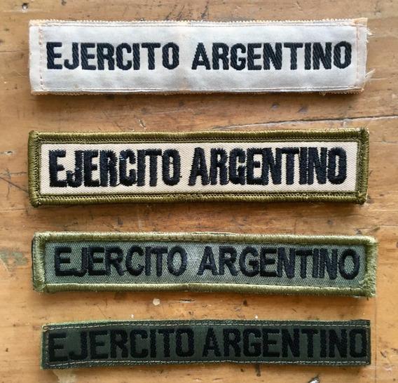 4 Galones Identificación De Ejército Argentino Con Velcro