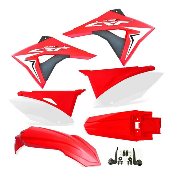 Kit Plástico Crf 230 Elite Biker 2008 - 2018 Pronta Entrega