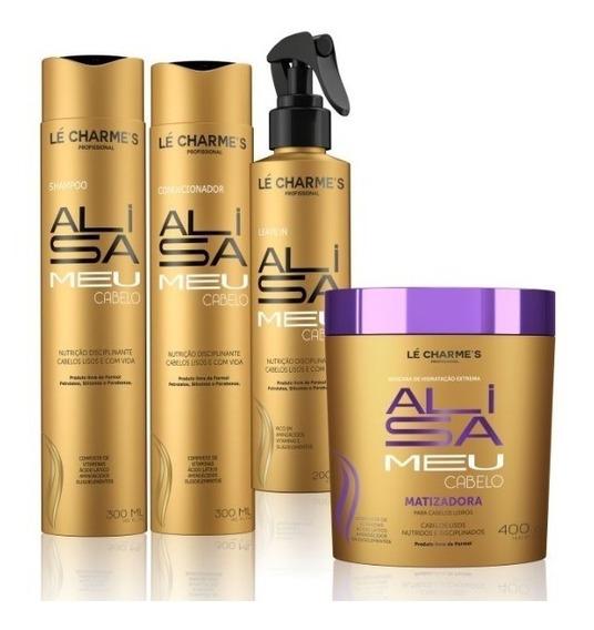 Alisa Meu Cabelo - Kit Shampoo+leave+cond+mascara Matizadora