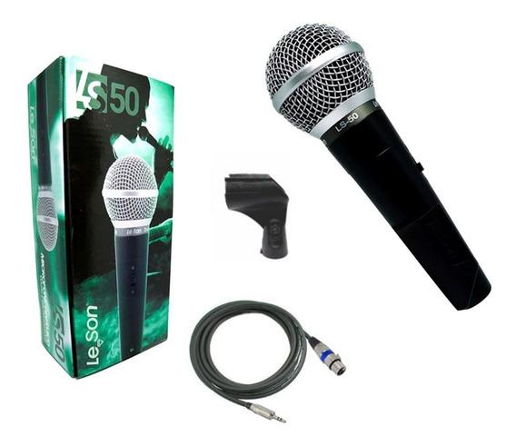 Microfone De Mão P/ Câmeras Dslr - Leson Ls50 C/ Cabo P2