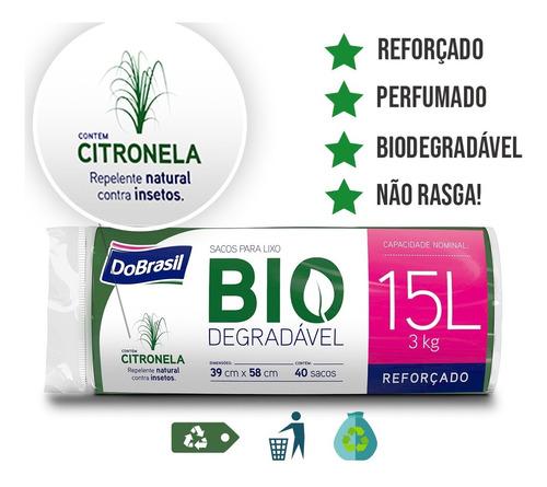 Imagem 1 de 5 de Sacos Lixo Biodegradavel 2 Unidades De 10 15 30 50 100lts