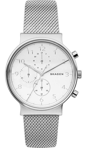 Relógio Skagen Feminino Ref: Skw6361/1kn Cronógrafo Prateado