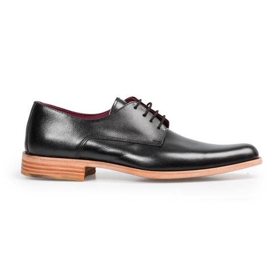Zapatos Sport De Vestir Hombre Negro Cuero Premium Suela