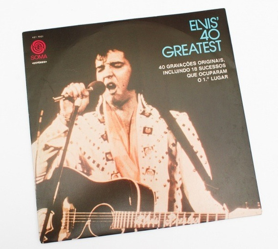 Elvis Presley Lp Duplo Elvis 40 Greatest 40 Gravaçõe
